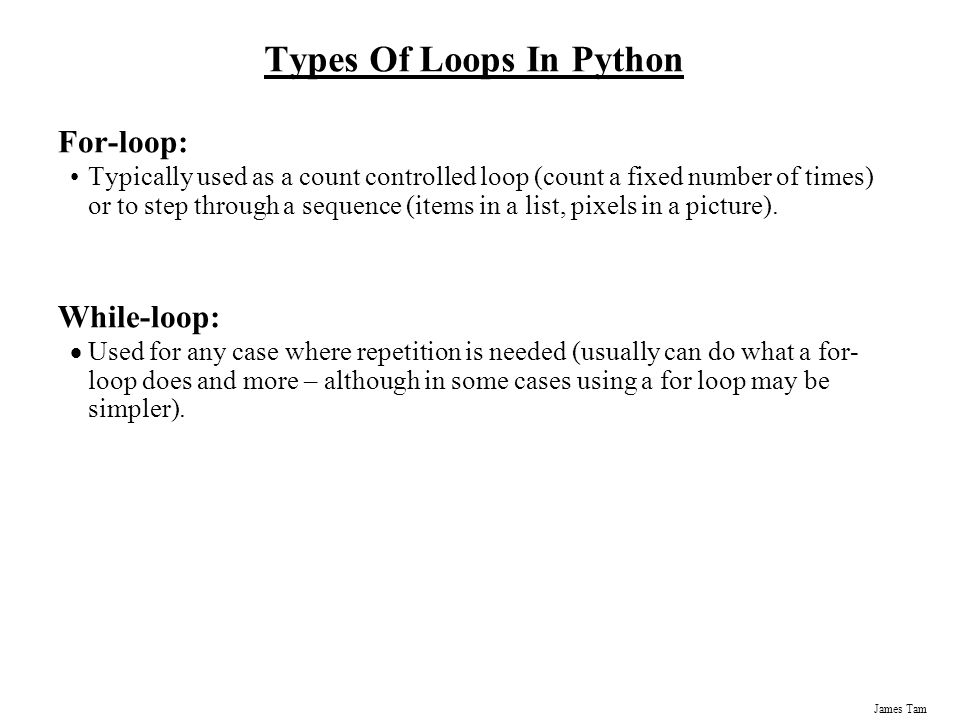 Types Of Loops In Python