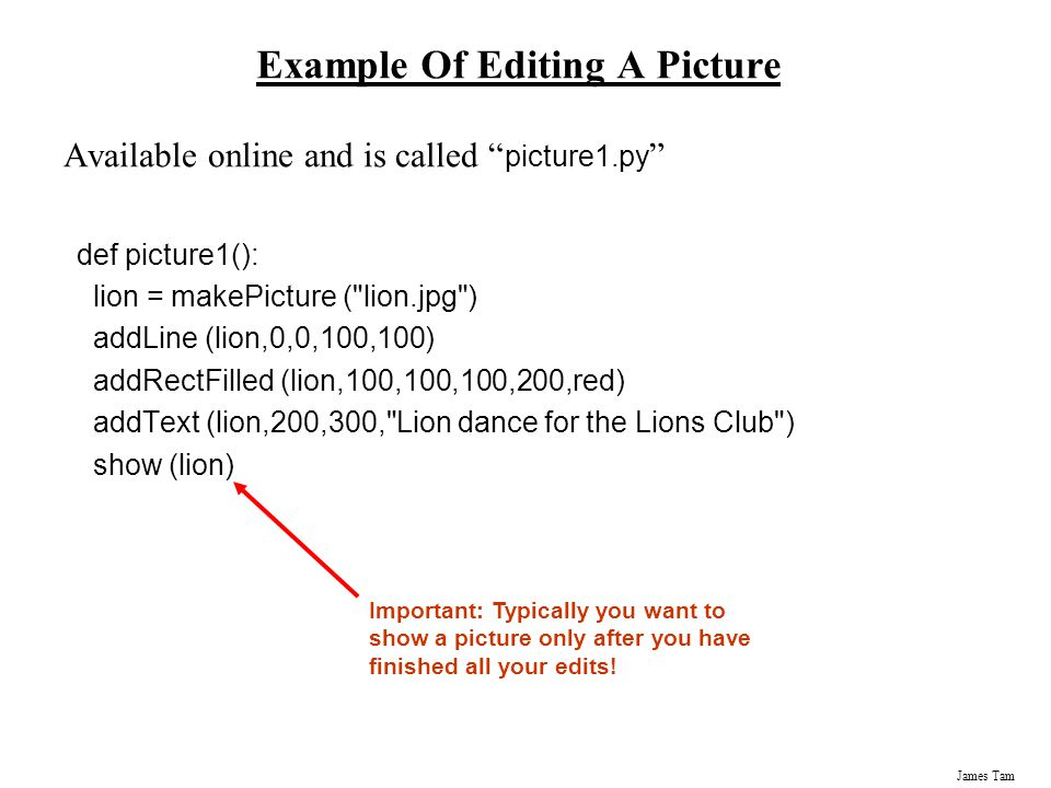 Example Of Editing A Picture