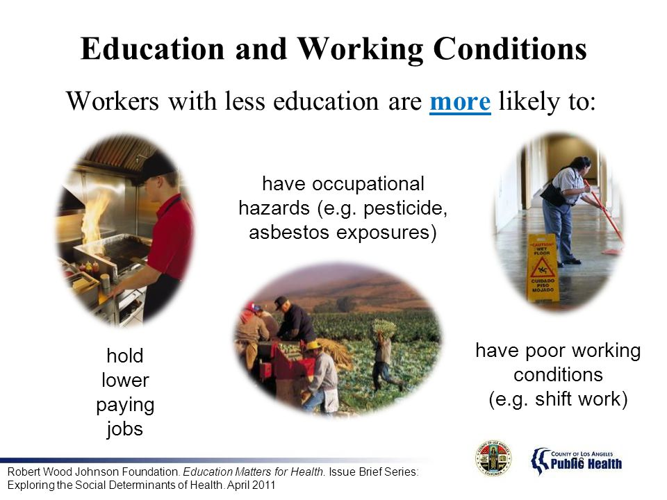 Workers with less education are more likely to:
