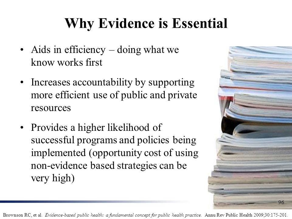 Why Evidence is Essential