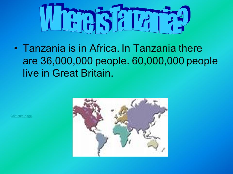 Contents Where Is Tanzania Ppt Download - Where is tanzania