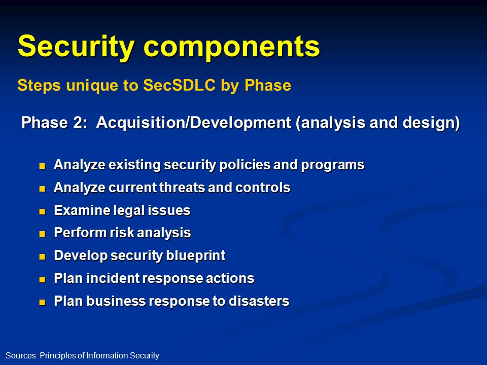Security and the systems development life cycle ppt download 27 security components malvernweather Gallery