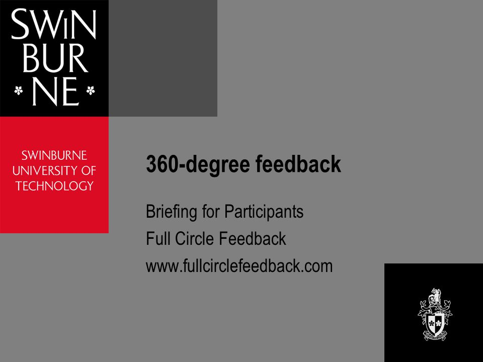 360-degree feedback Briefing for Participants Full Circle Feedback