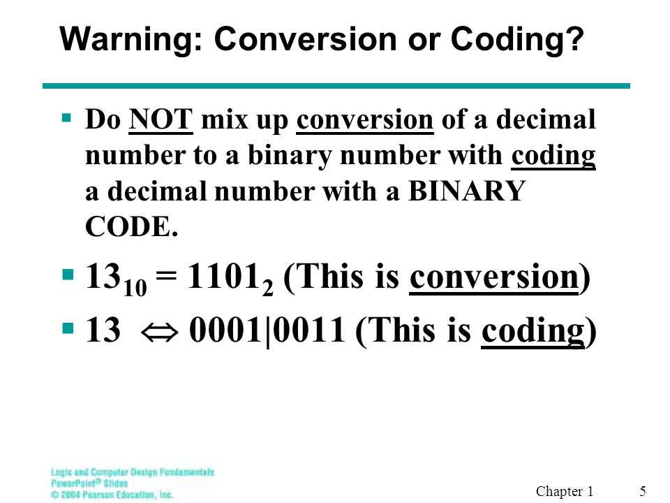 Warning: Conversion or Coding
