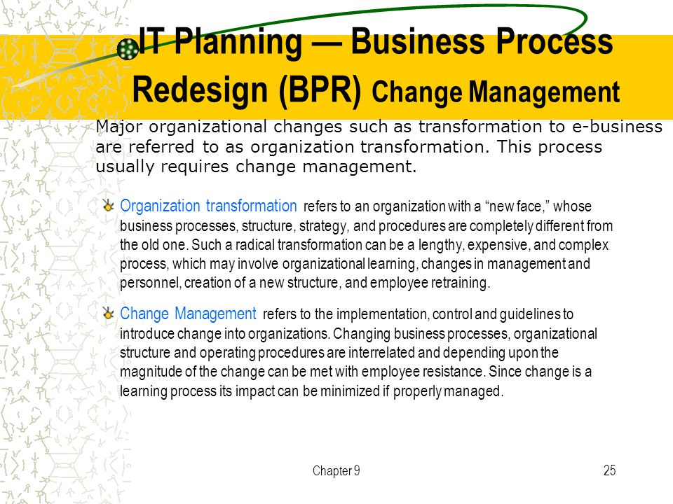redesigning business strategy and implementation in What is business process design and why should i care : human resource strategy • investigate options for achieving improvement by redesigning the.