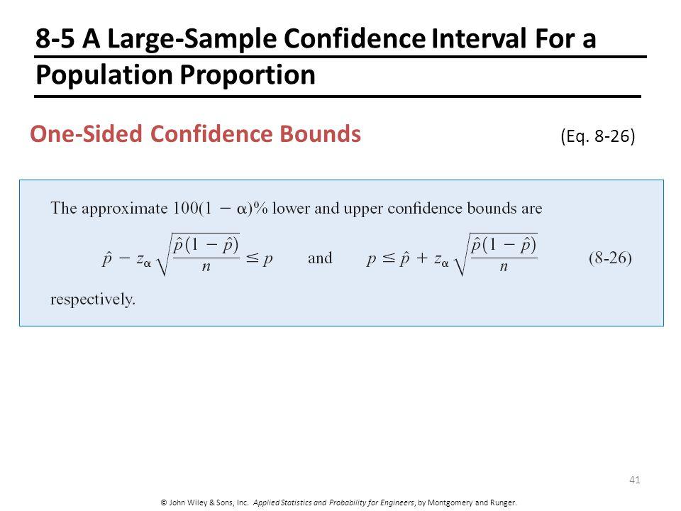 8 Statistical Intervals for a Single Sample CHAPTER OUTLINE - ppt ...