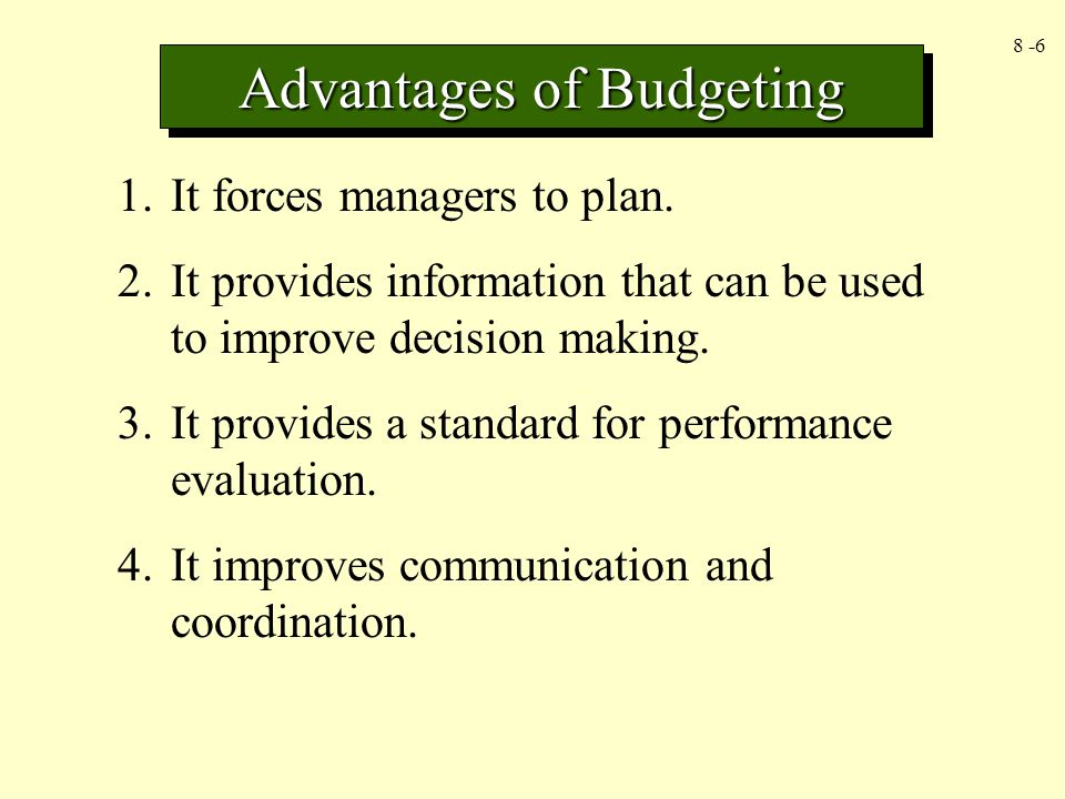 budgeting and performance evaluation A short course of lectures «tools for enterprise performance evaluation:  budgeting and decision making» journal entries of direct labor variances standard.