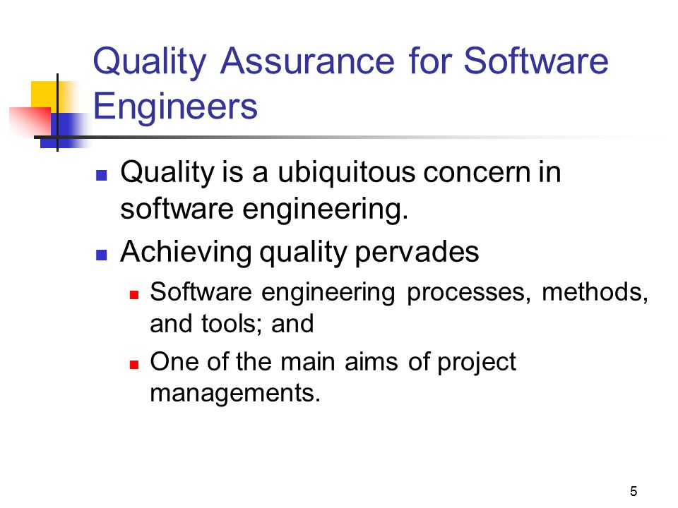 Quality Assurance for Software Engineers