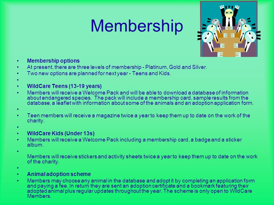 Membership Membership options