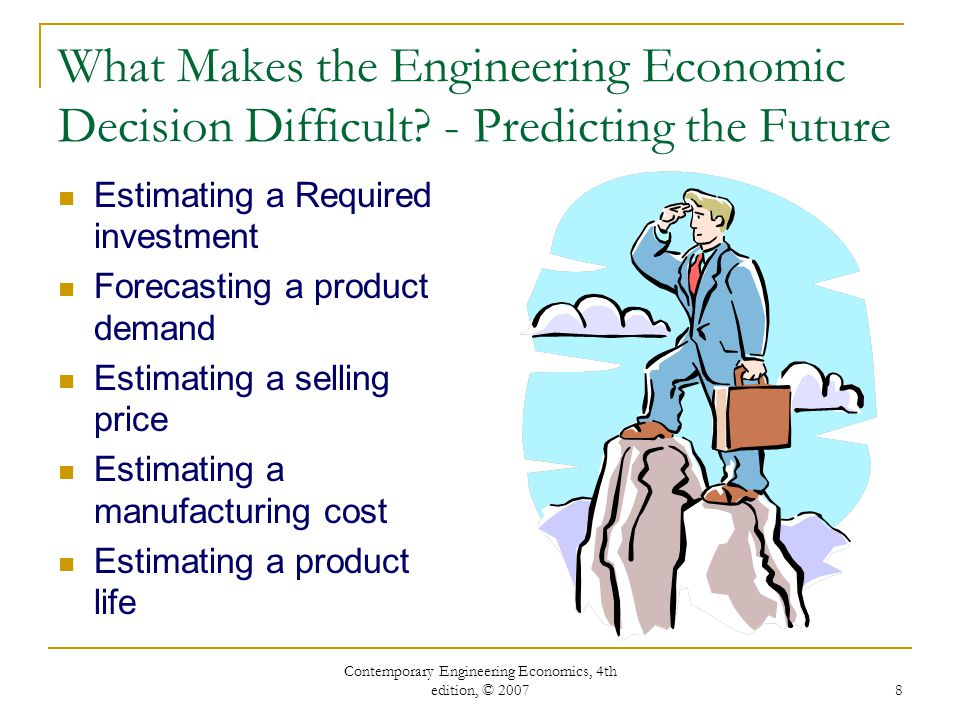 engineering economic decisions For engineering economics courses, found in departments of industrial, civil,   13 types of strategic engineering economic decisions 13.