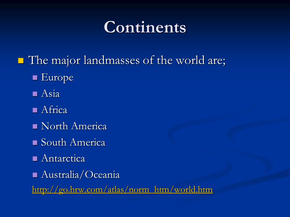 World Major Capitals Continents And Countries Oddizzi Asia - Major continents
