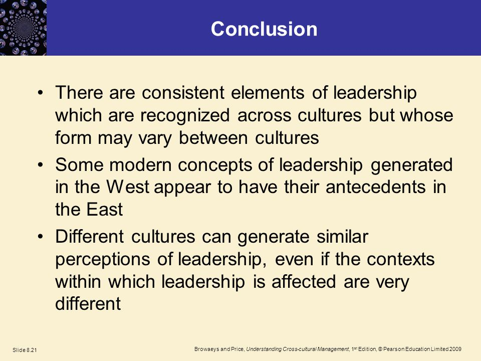 Conclusion of Leadership Theories