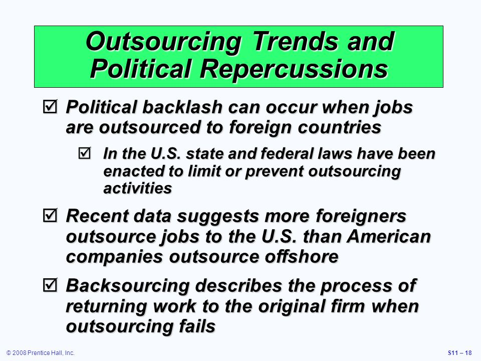 outsourcing jobs to foreign countries thesis Global trends in outsourcing and their impact explain that jobs outsourced to a foreign country are not a total loss, as the investment of jobs in.