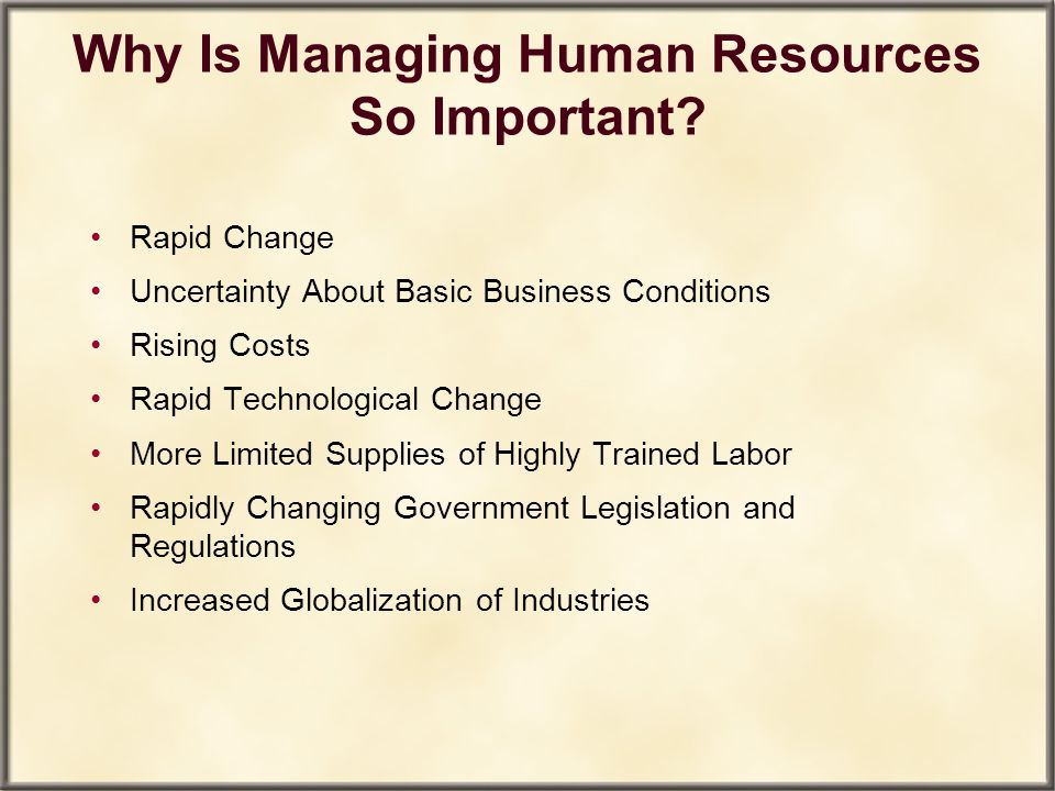 why human resources important Interested in a career in human resources paths on their journey to working in human resource have become more important in most.