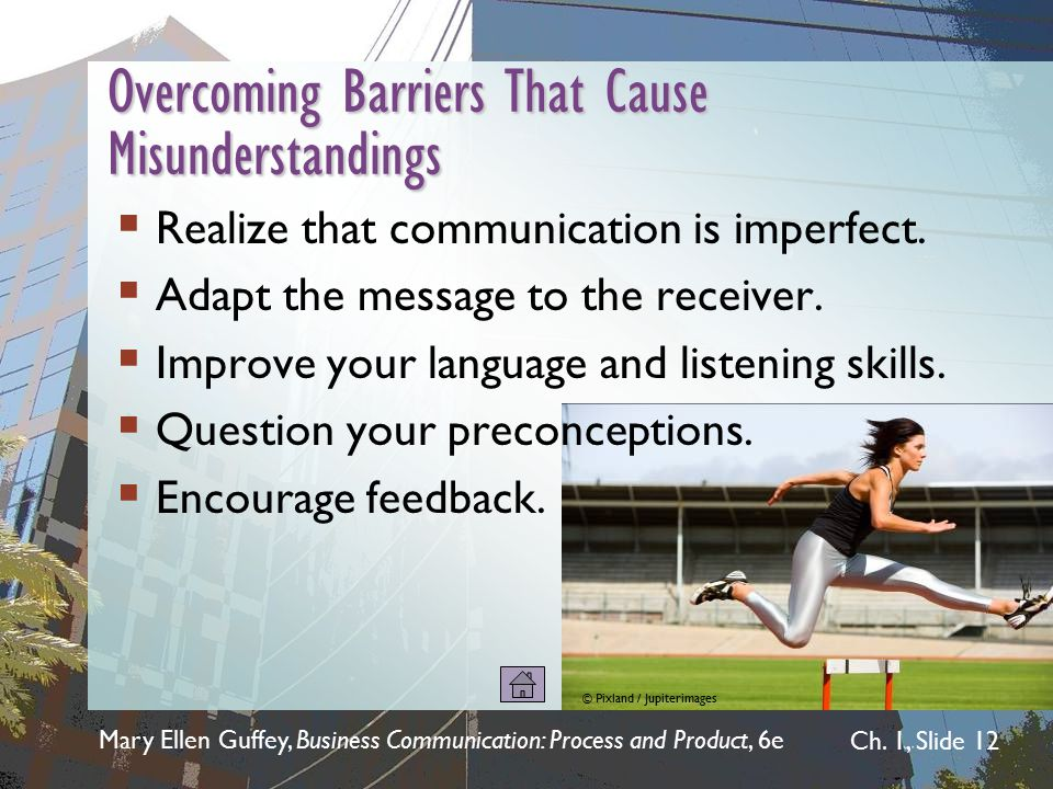 Overcoming Barriers That Cause Misunderstandings