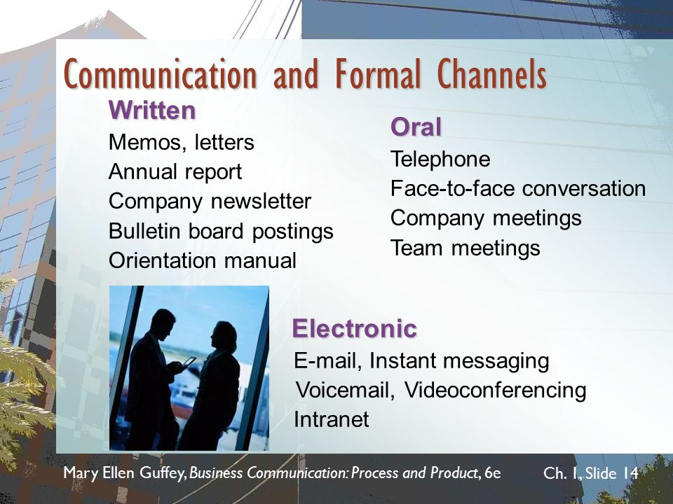 Communication and Formal Channels