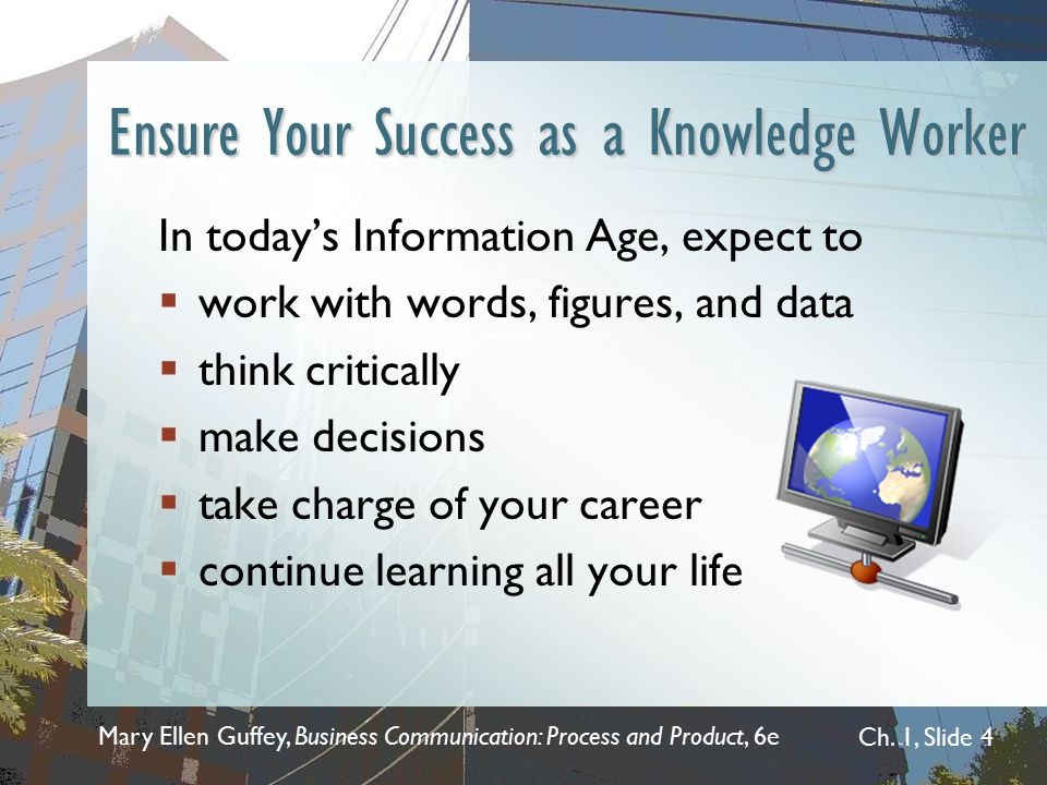 Ensure Your Success as a Knowledge Worker