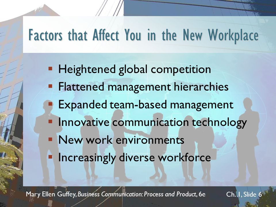 Factors that Affect You in the New Workplace