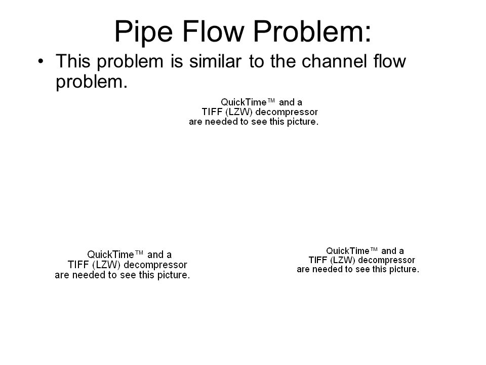 Pipe Flow Problem: This problem is similar to the channel flow problem.