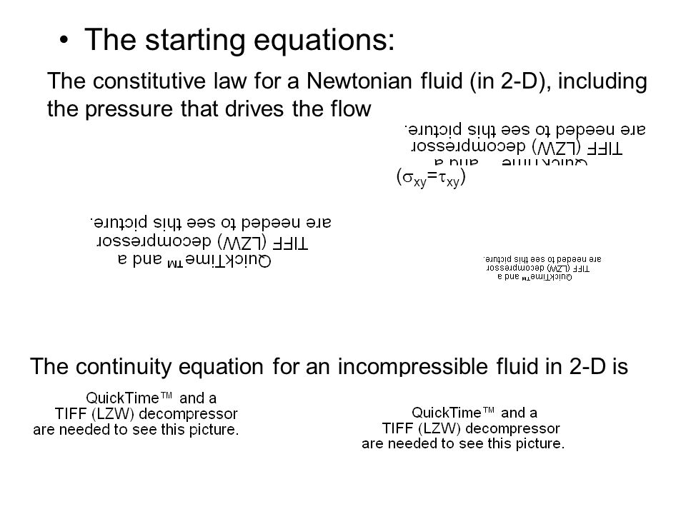 The starting equations: