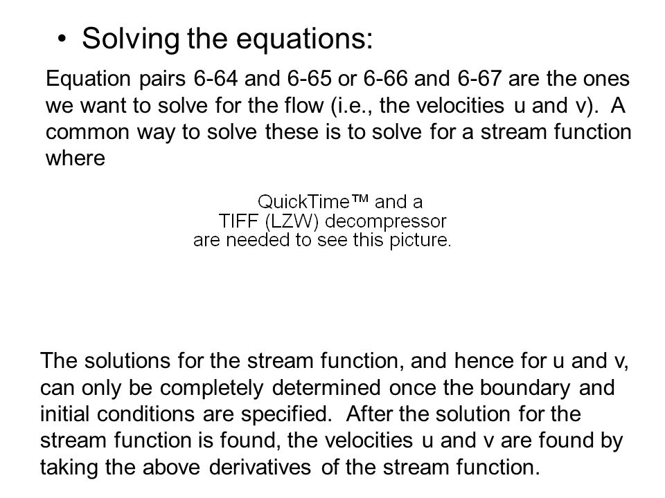 Solving the equations: