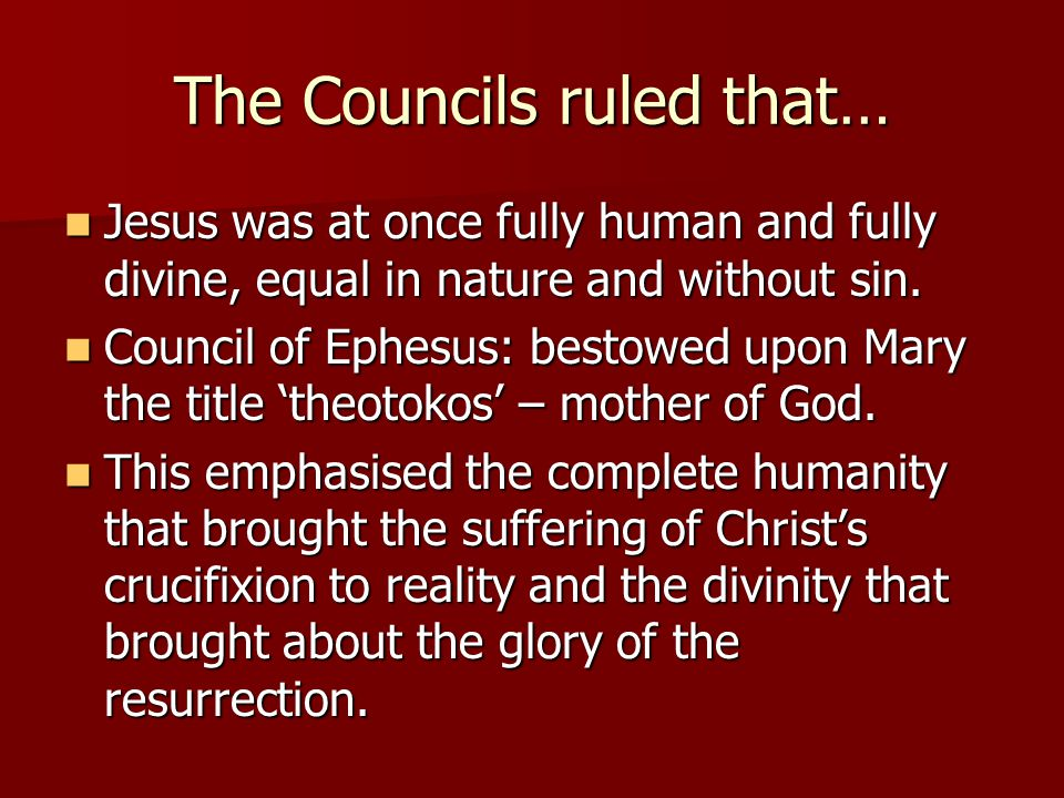 The Councils ruled that…