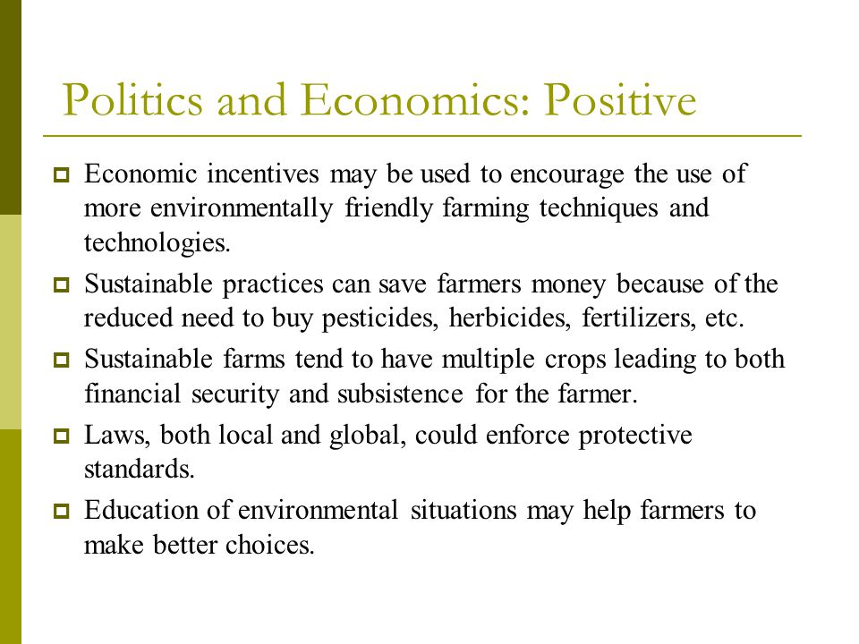 Politics and Economics: Positive