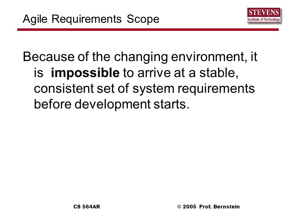 Agile Requirements Scope