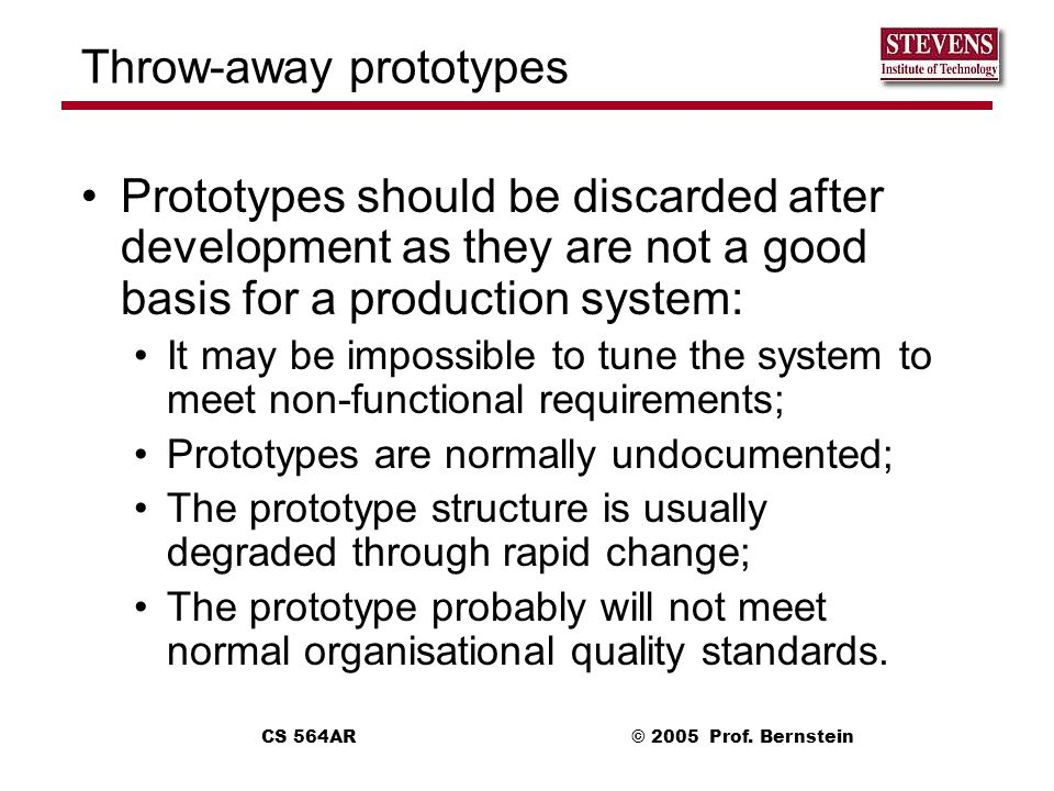 Throw-away prototypes