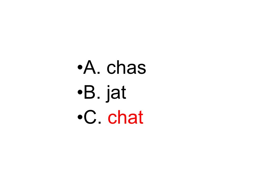 A. chas B. jat C. chat