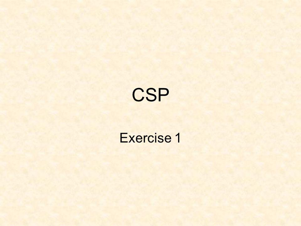 CSP Exercise 1