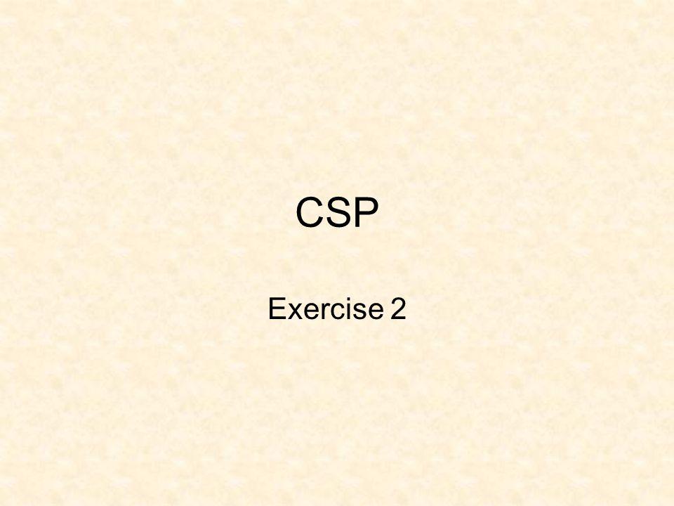 CSP Exercise 2