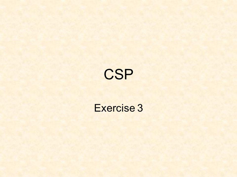 CSP Exercise 3