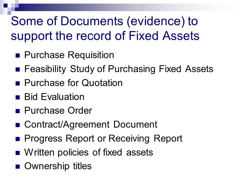 Audit Field Standards Audit Of Fixed Assets  Ppt Video Online