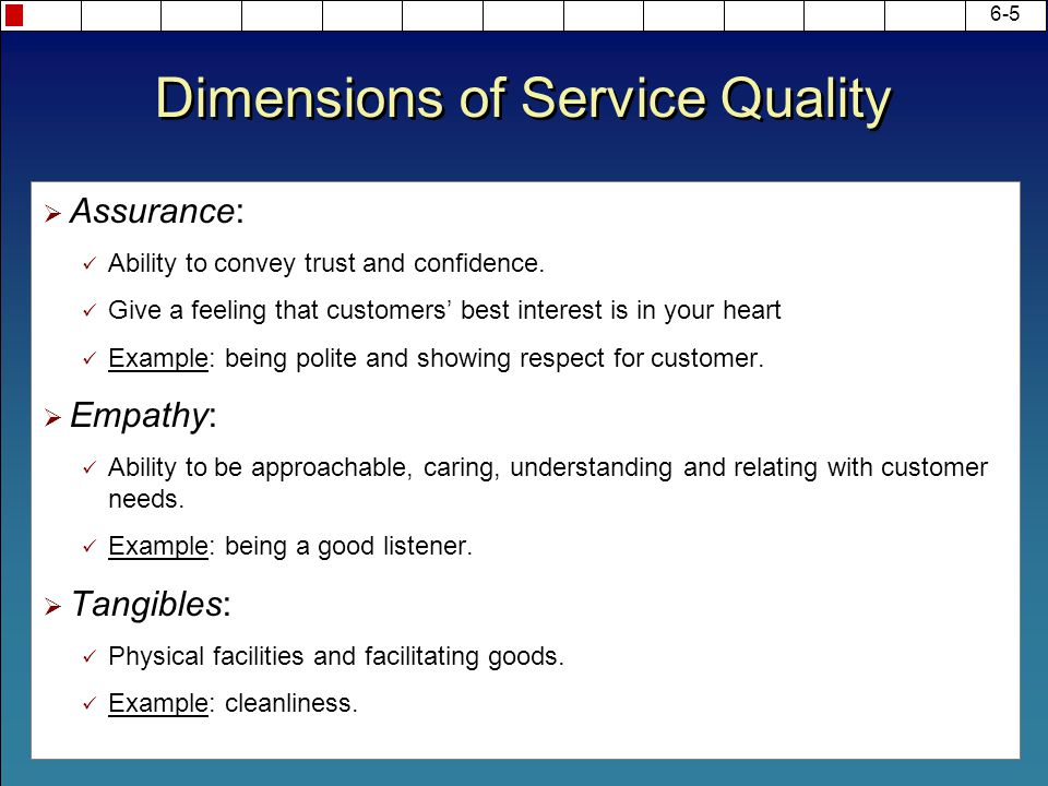 Chapter 6 Service Quality Ppt Video Online Download