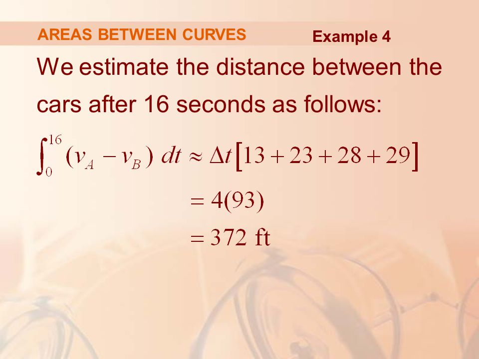 We estimate the distance between the cars after 16 seconds as follows:
