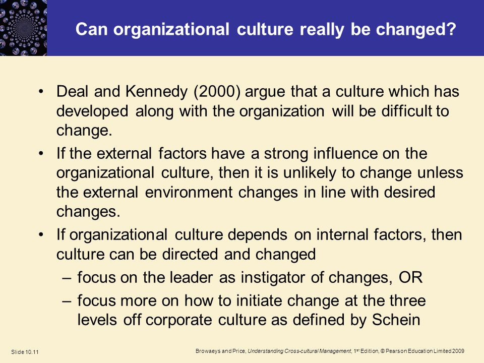 deal kennedy strong culture Deal and kennedy culture model is compared with the competing values  framework, just like the ocai.