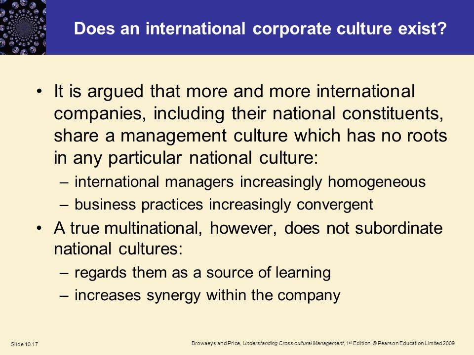 organization culture in multinational companies management essay Social media - publish your bachelor's or master's thesis, dissertation, term  paper or essay  corporate culture is used as term to signify how the managers  and the workers of  many international companies (nestlè and shell) have long  term  it has been believed that cross-cultural management problems occur in a .