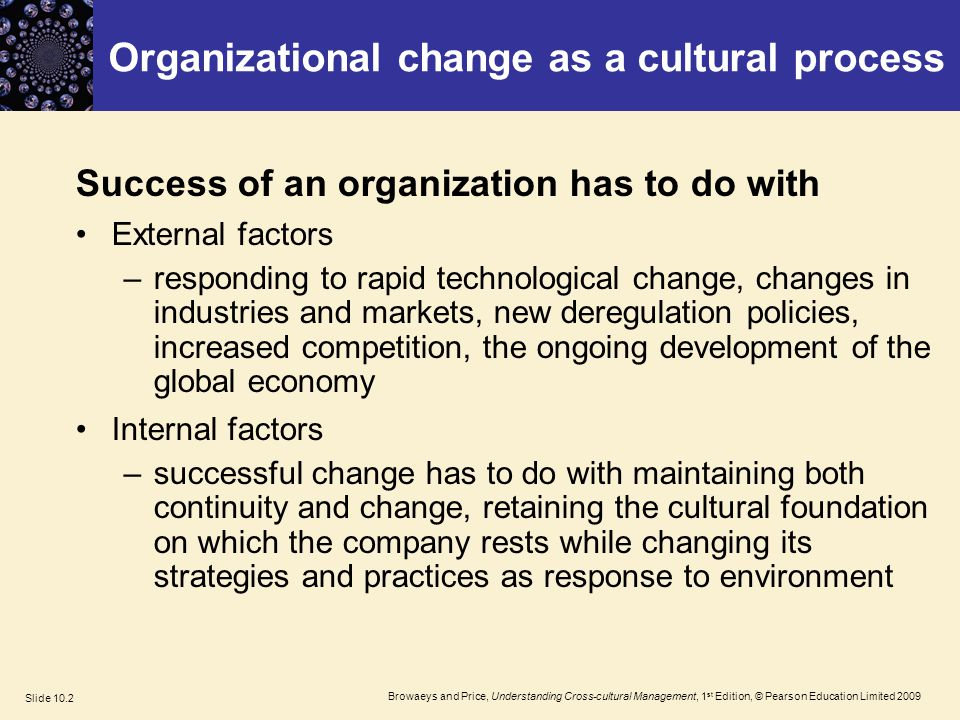 understanding organisations understanding the internal and Weisbord presents a six-box model for understanding organizations: purposes: the organization structure: how is the organization's work divided up the question is whether there is an adequate fit between the purpose and the internal structure relationship: between.