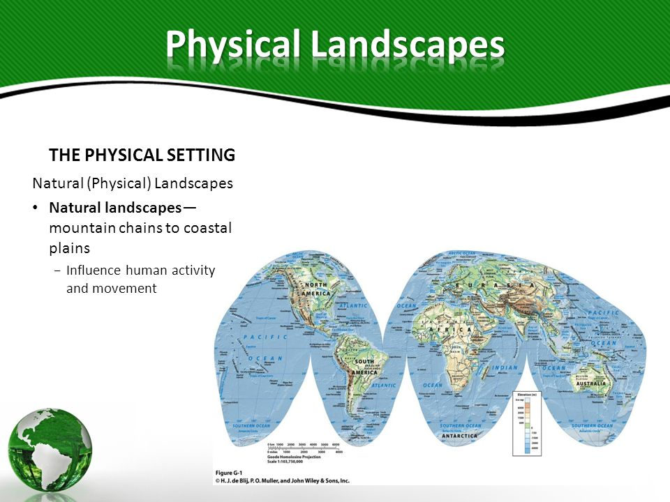 Physical Landscapes THE PHYSICAL SETTING Natural (Physical) Landscapes
