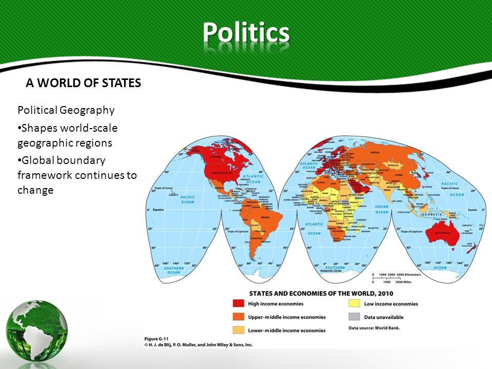 Politics A WORLD OF STATES Political Geography