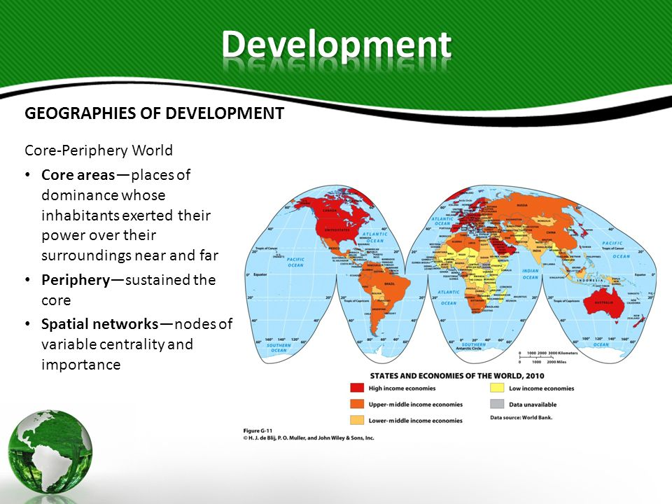 Development GEOGRAPHIES OF DEVELOPMENT Core-Periphery World