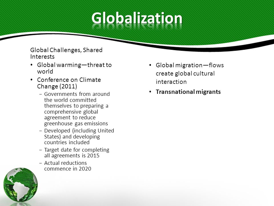 Globalization Global Challenges, Shared Interests