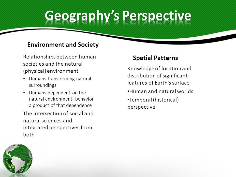 Geography's Perspective