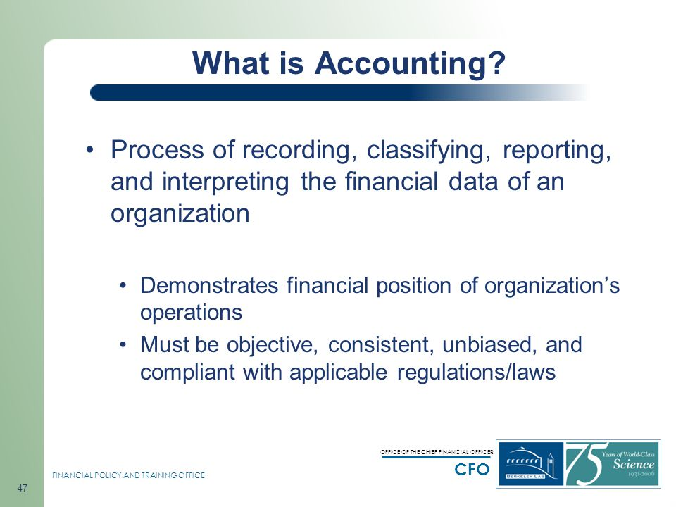 an introduction to the process of reporting financial information Chapter 15 accounting – the process of systematically collecting, analyzing, and reporting financial information audit – an examination of a company's financial statements and the accounting practices that produced them.