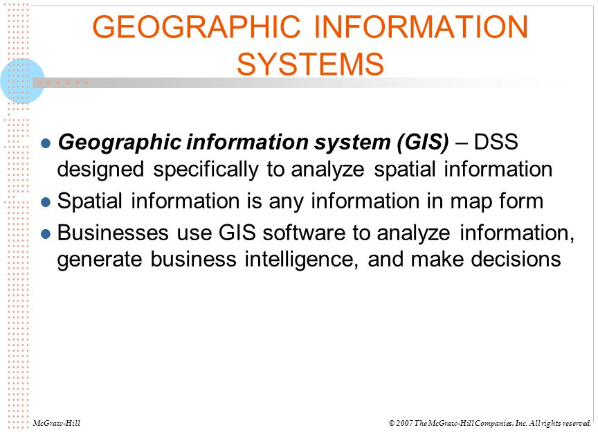 GEOGRAPHIC INFORMATION SYSTEMS