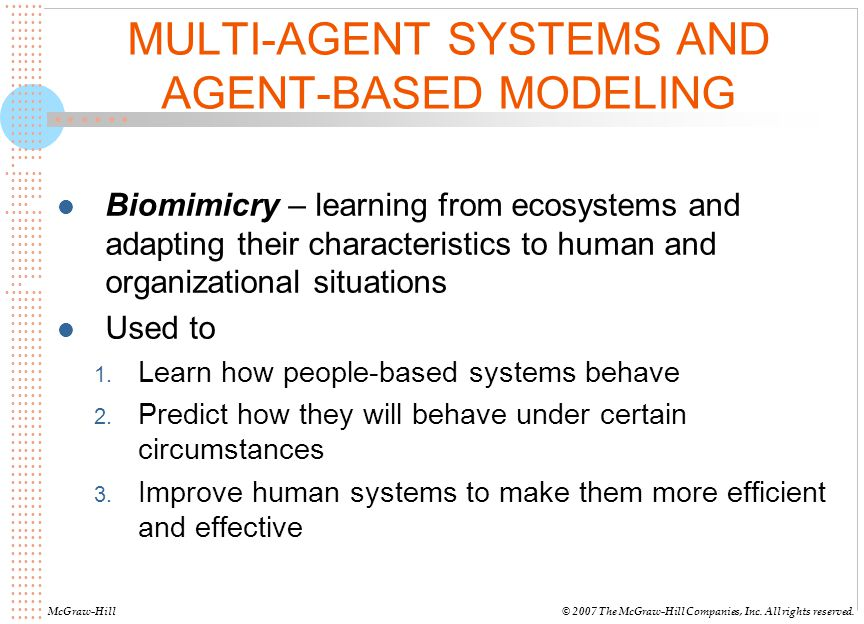 MULTI-AGENT SYSTEMS AND AGENT-BASED MODELING
