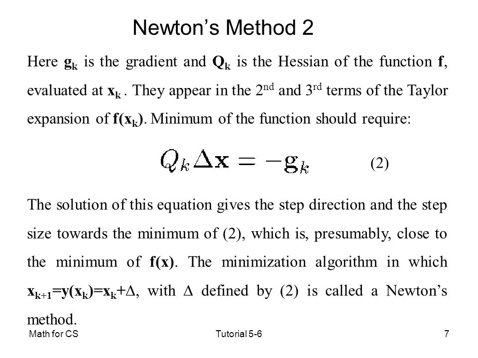 Newton's Method 2