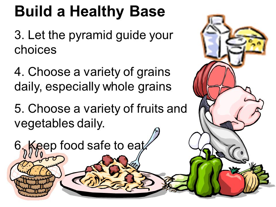 Build a Healthy Base 3. Let the pyramid guide your choices
