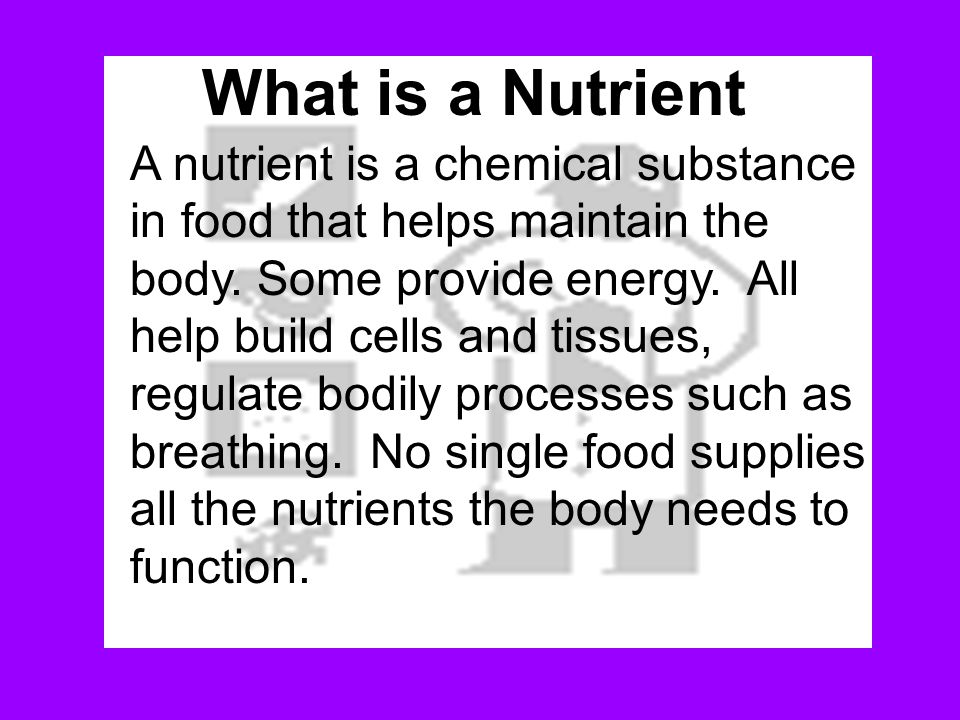 What is a Nutrient